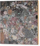Patina On Wall Wood Print