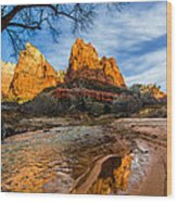 Patriarchs Of Zion Wood Print by Chad Dutson