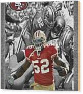 Patrick Willis 49ers Wood Print