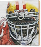 Patrick Willis - Force Wood Print