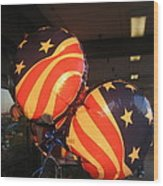Patriotic Balloons Veteran's Day Casa Grande Arizona 2004 Wood Print