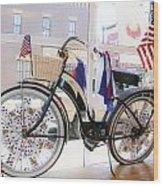 Patriotic Bicycle Wood Print