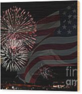 Patriotic Wood Print by Dianne Phelps