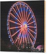 Patriotic Ferris Wheel Wood Print