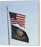 Patriotic Flags Wood Print