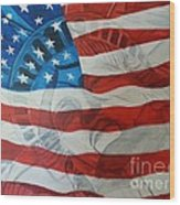 Patriotic Wood Print by Michelley Fletcher