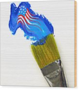 Patriotic Paint Wood Print by Diane Diederich