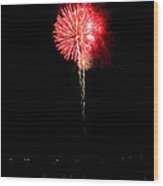 Patriotic Red Reflections Wood Print