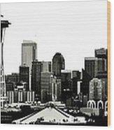 Patriotic Seattle Wood Print