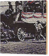 Patriotic Wagon Stone And Congress Tucson Arizona C.1900 Restored Color Texture Added 2008 Wood Print