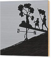 Patriotic Weathervane Wood Print