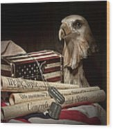 Patriotism Wood Print by Tom Mc Nemar