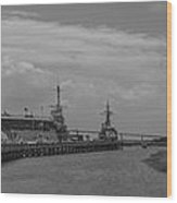 Patriots Point Panorama Wood Print