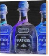 Patron Tequila Black Light Wood Print