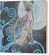 Patronus Cat Wood Print