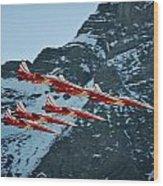 Patrouille Suisse Vll Wood Print