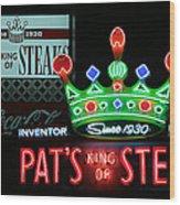 Pat's King Of Steaks Wood Print