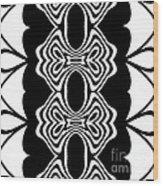Pattern Black White Abstract Art No.293. Wood Print