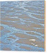 Pattern In Mud Flats At Low Tide In Kachemak Bay From Homer Spit-alaska Wood Print