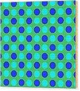 Pattern Of Circles Wood Print