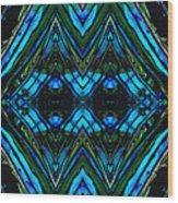 Patterned Art Prints - Cool Change - By Sharon Cummings Wood Print