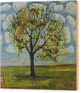 Patterned Sky Wood Print