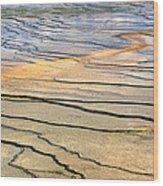 Patterns At Yellowstone #1 Wood Print