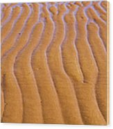 Patterns In The Sand At Low Tide Wood Print by Diane Diederich