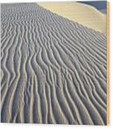 Patterns In The Sand Brazil Wood Print