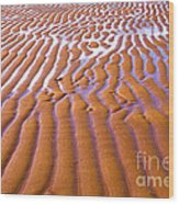 Patterns In The Sand Wood Print by Diane Diederich