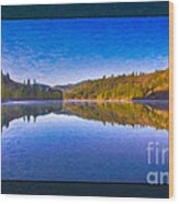 Patterson Lake Fall Morning Abstract Landscape Painting Wood Print