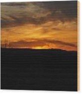 Patterson Sunset Wood Print