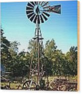 Patterson Windmill Wood Print by Marty Koch