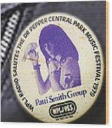 Patti Smith '79 Wood Print
