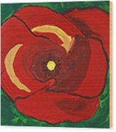 Patty's Poppy Wood Print