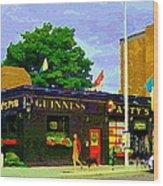 Patty's Pub Guinness On The Glebe Restaurant Bar Bank And Ossington Paintings Of Ottawa Art Cspandau Wood Print