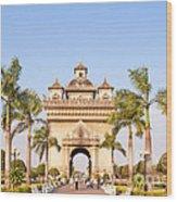 Patuxai Gate - Vientiane - Laos Wood Print