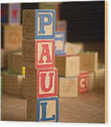 Paul - Alphabet Blocks Wood Print