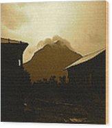 Paul Cezanne Homage Golden Gate Peak Old Tucson 1967-2009 Wood Print
