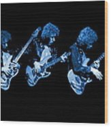 Paul Harwood Of Mahogany Rush Plays The Blues Wood Print