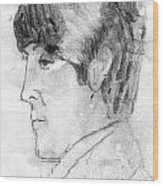 Paul Mccartney Profile Wood Print