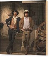 Paul Newman And Robert Redford At Madame Tussaud Wood Print