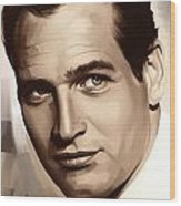 Paul Newman Artwork 1 Wood Print