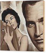 Paul Newman Artwork 2 Wood Print