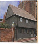 Paul Revere House Wood Print by David Davis