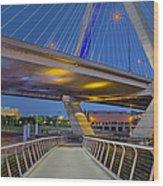 Paul Revere Park And The Zakim Bridge Wood Print