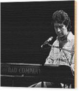 Paul At The Keyboard In Spokane 1977 Wood Print