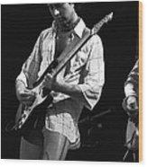 Paul At Work On His Guitar In 1977 Wood Print