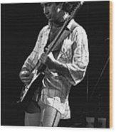 Paul On Guitar 1977 In Spokane Wood Print