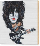Paul Stanley Wood Print by Art